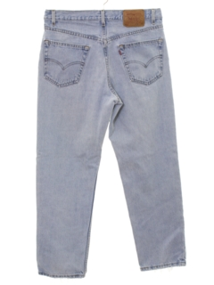 1980's Mens Levis 550 Relaxed Straight Leg Denim Jeans Pants
