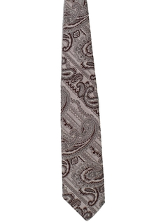 1970's Mens Paisley Wide Disco Necktie