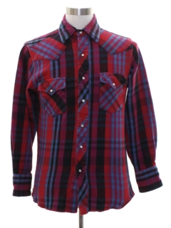 1990's Mens Flannel Western Shirt