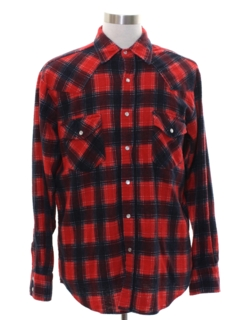 1980's Mens Lumberjack Plaid Western Shirt