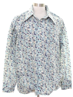 1970's Mens Totally 80s Look Sport Shirt