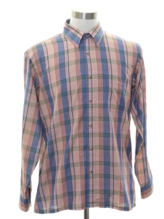 1980's Mens Preppy Sport Shirt