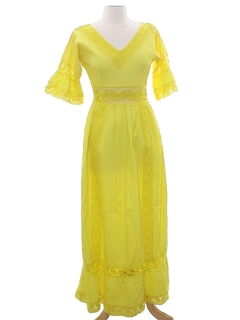 1960's Womens Hippie Maxi Dress