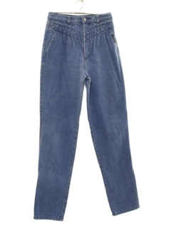 1980's Womens Highwaisted Totally 80s Rockies Denim Jeans Pants