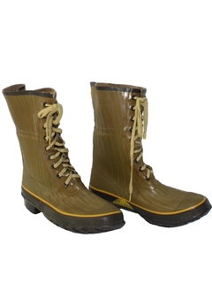 1980's Mens Accessories - Rain Boot Work Shoes