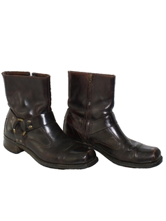1970's Mens Accessories - Mod Motorcycle Ankle Boots Shoes