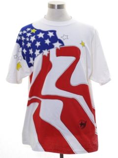 1990's Mens Patriotic Sport T-shirt