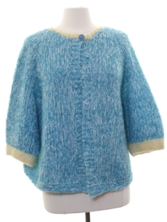 1960's Womens Mod Hand Knit Sweater