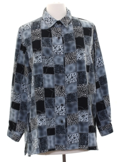 1990's Womens Animal Print Shirt