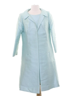 1960's Womens Mod Silk Blend Dress