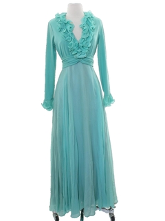1970's Womens Fred Perlberg Cocktail or Prom Dress
