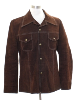 1970's Mens Leather Suede Jacket