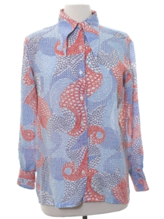 1960's Womens Mod Peacock Revolution Hippie Shirt