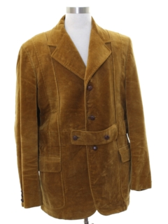 1970's Mens Mod Corduory Blazer Sport Coat Jacket
