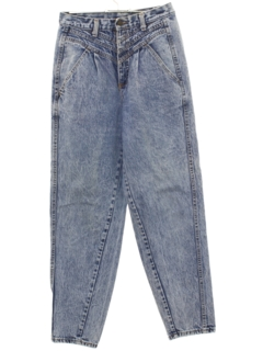1980's Womens Highwaisted Totally 80s Acid Washed ZENA Denim Jeans Pants