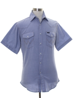 1990's Mens Chambray Western Shirt