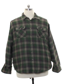 1990's Mens Lined Flannel Shirt