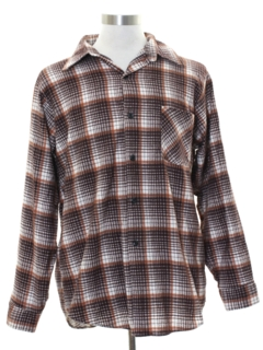 1980's Mens Grunge Faded Flannel Shirt