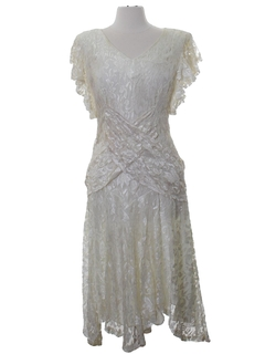 1980's Womens Prom or Cocktail or Wedding Dress