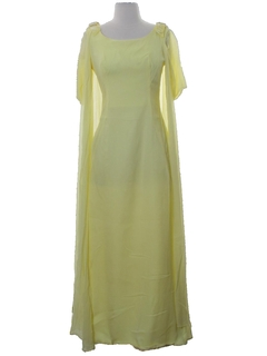 1960's Womens Prom Or Cocktail Maxi Dress