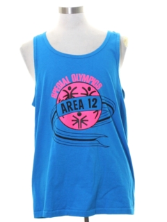 1980's Mens Totally 80s Muscle Tank Top T-shirt