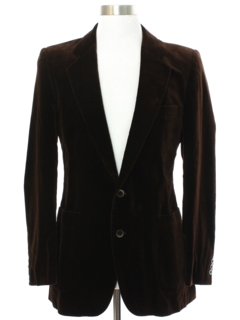 1980's Mens Yves St Laurent Velvet Blazer Sport Coat Jacket