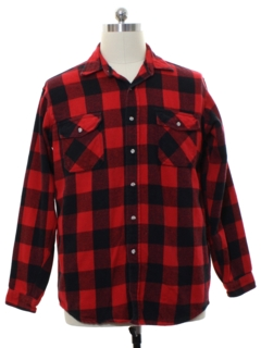 1980's Mens Lumberjack Plaid Flannel Shirt