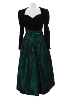 1980's Womens Designer Prom Or Cocktail Dress