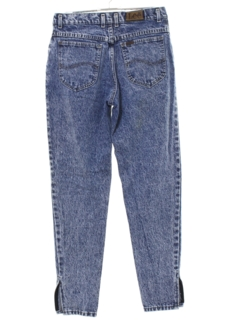 1980's Womens Acid Wash Totally 80s Denim Jeans Pants