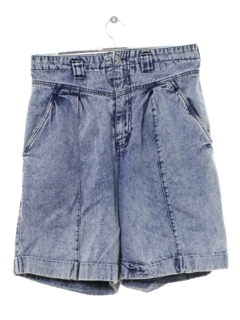 1990's Womens High Waisted Totally 80s Acid Washed Denim Shorts