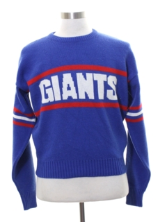 1980's Mens Totally 80s Intarsia Giants Sweater