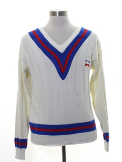 1970's Mens Jimmy Connors Preppy Tennis Sweater