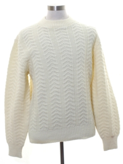 1980's Mens Cable Knit Sweater
