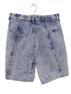 1980's Womens Totally 80s Acid Wash Denim Jeans Shorts