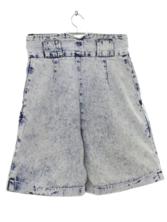 1990's Womens Totally 80s Style Acid Washed Denim Jeans Shorts