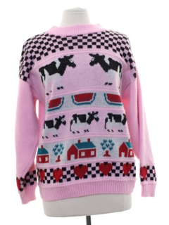 1980's Womens Totally 80s Cheesy Ugly Sweater