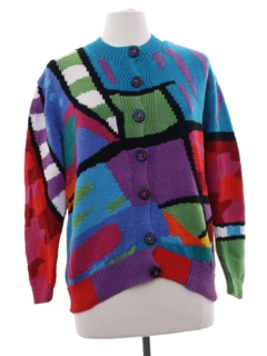 1990's Womens Designer Cardigan Sweater