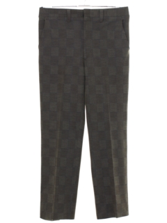 1970's Mens Checkered Plaid Disco Pants