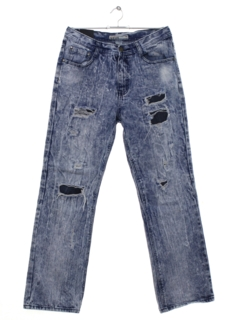 1990's Mens Acid Washed Straight Leg Denim Jeans Pants