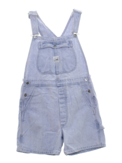 1990's Womens Denim Overall Shorts