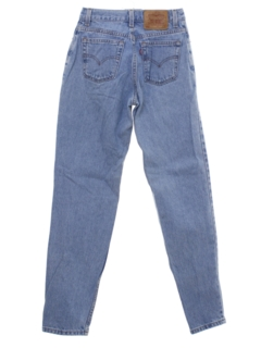 1980's Womens Levis 550 Tapered Leg Denim Jeans Pants