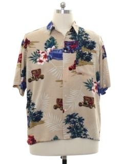 1990's Mens Rayon Hawaiian Shirt