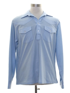 1970's Mens Western Style Pullover Shirt