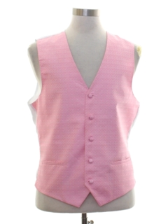 1980's Mens Totally 80s Style Formal Suit Vest