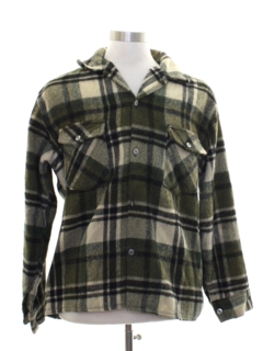 1960's Mens CPO Flannel Shirt Jacket