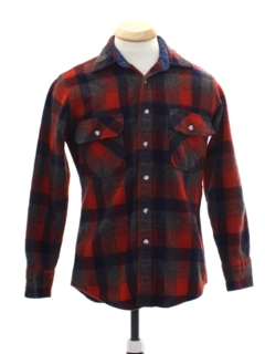 1980's Mens/Boys Wool Flannel Shirt