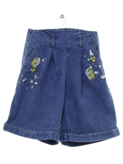 1990's Womens Wicked 90s High Waist Denim Mom Shorts