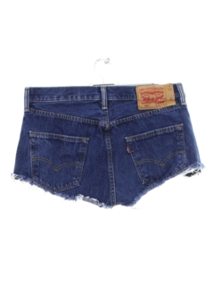 1990's Womens Levis 501 Denim Cut Off Short Shorts