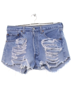 1990's Womens Grunge Levis 501 Denim Cut Off Shorts