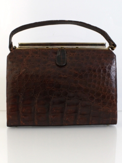 1960's Womens Accessories - Alligator Purse